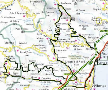 percorso della gf di Ceriale (Sv)