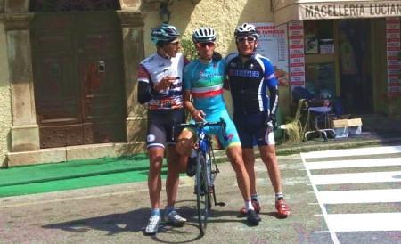 Giorgio, Vincenzo e Sandro in allenamento nel frusinate