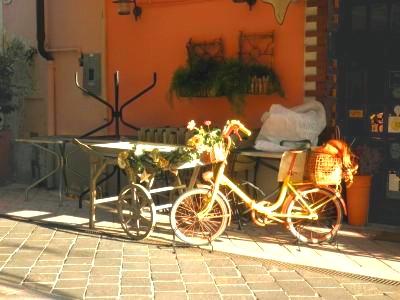 Diano Marina (IM): bici in esposizione